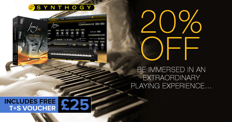20% off Synthogy Ivory II Grand Pianos