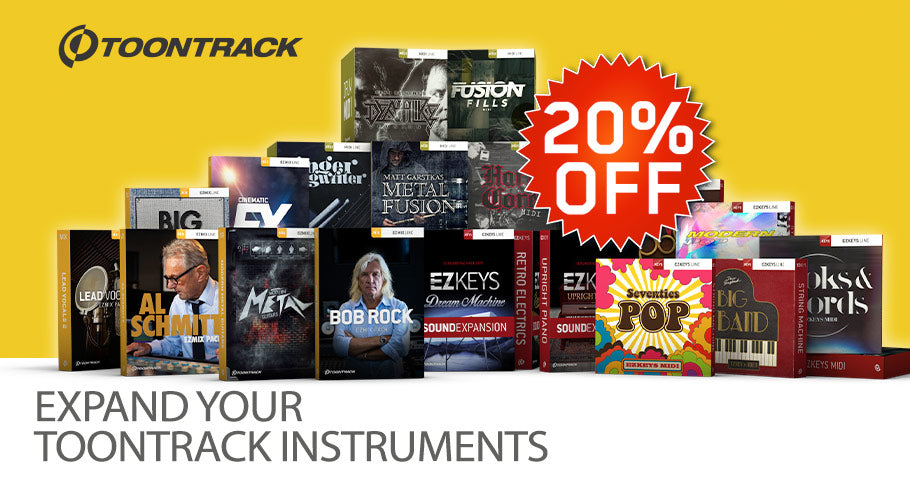 20% off Toontrack expansions