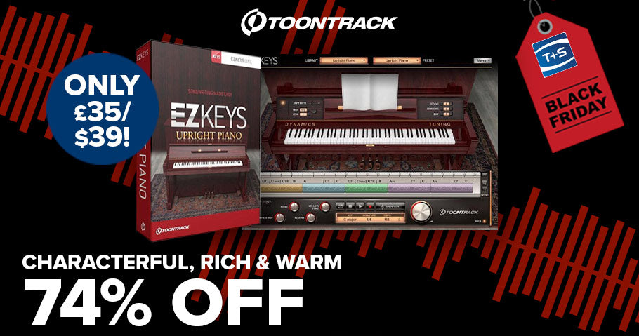 74% off Toontrack EZkeys Upright Piano