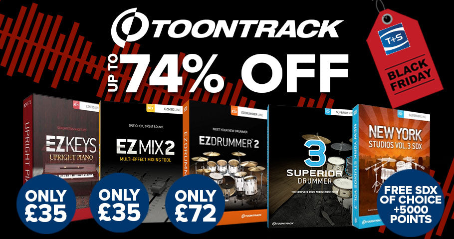 Up to 74% off in the Toontrack Black Friday sale
