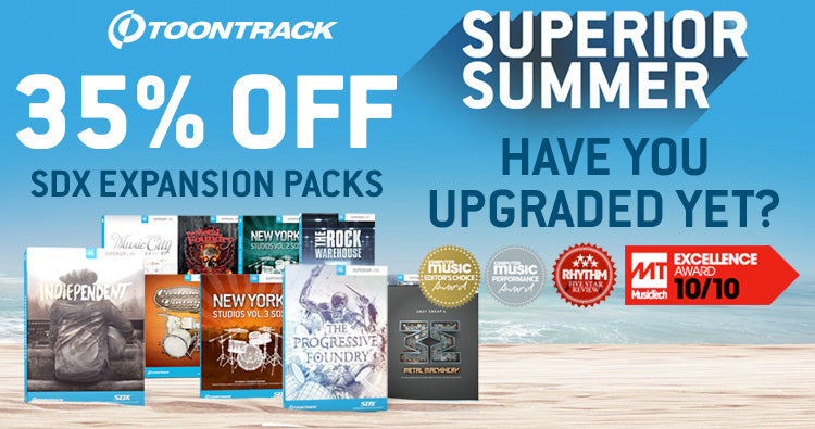 Toontrack Superior Drummer 3 upgrade and 35% off SDXs