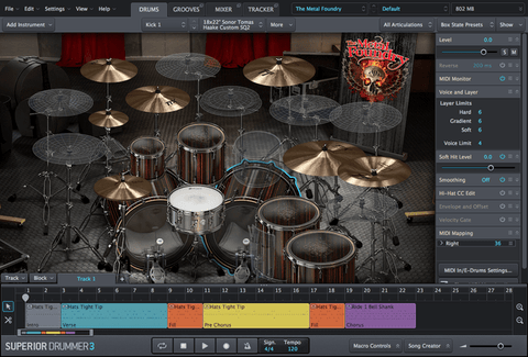 Toontrack The Metal Foundry SDX GUI
