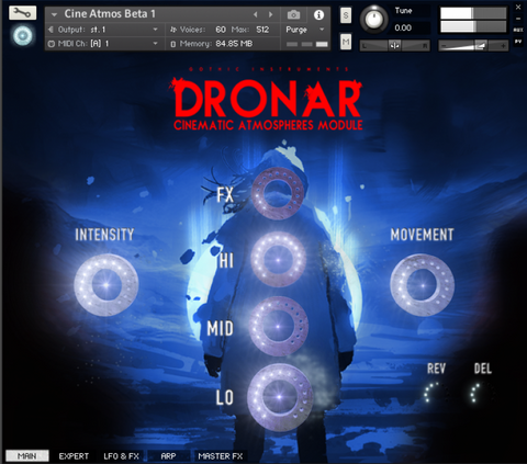 The DRONAR: Cinematic Atmospheres interface is inspiring and intuitive!