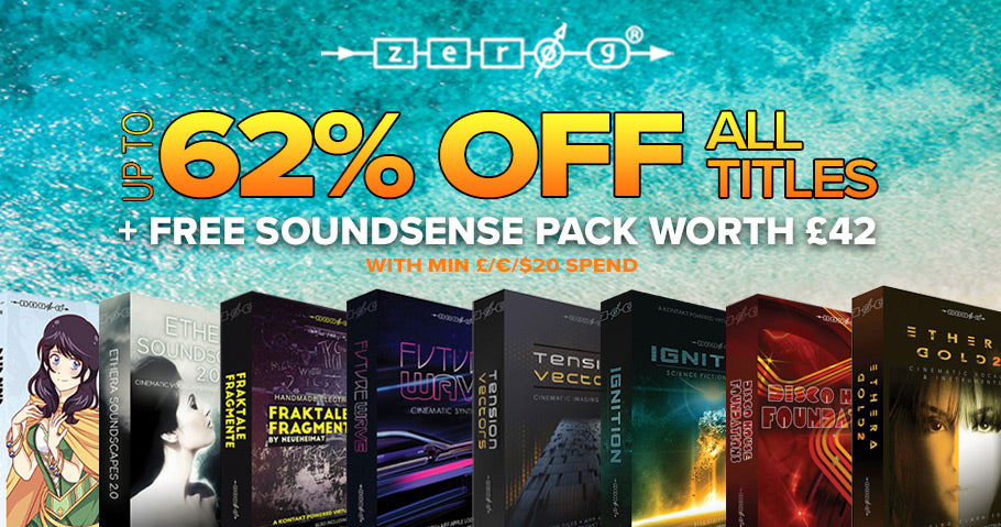 Up to 62% off Zero-G sample libraries and Kontakt instruments