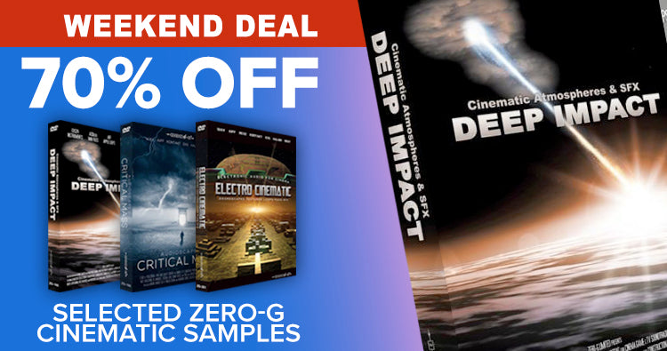 Zero-G weekend deal 70% off cinematic samples