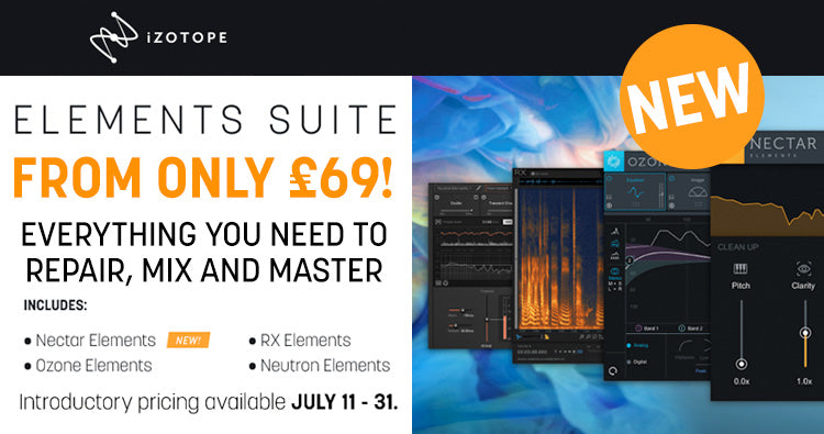 New iZotope Elements Suite sale