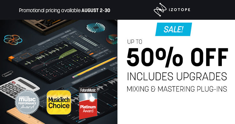 iZotope mixing and mastering effects plugin sale