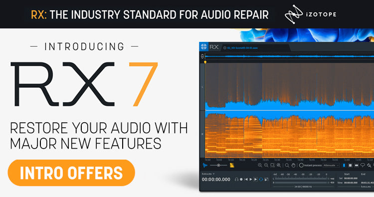 iZotope RX 7 audio repair software