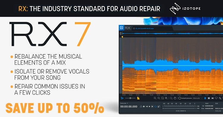 iZotop RX 7 audio repair software for your music