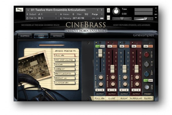 Download Cinesamples CineBrass Twelve Horn Ensemble