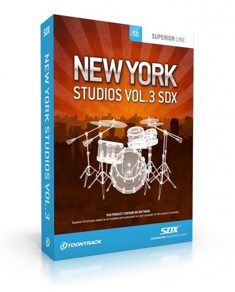 Buy Toontrack SDX: New York Studios Vol 3 (boxed)