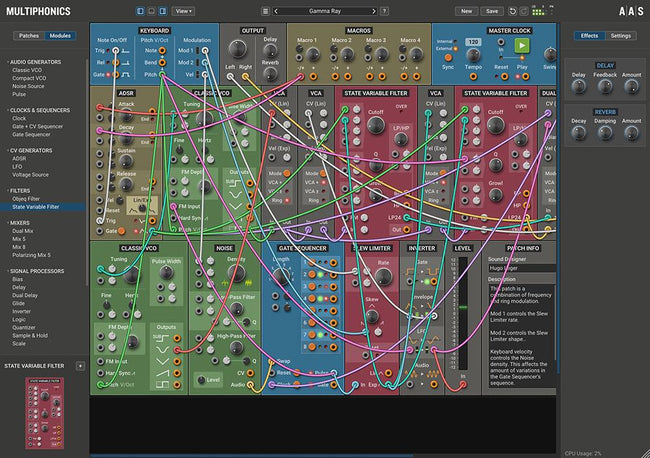 AAS Multiphonics CV-1 Modular Synthesizer