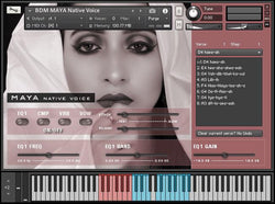 Bela D Media Native Voice MAYA interface