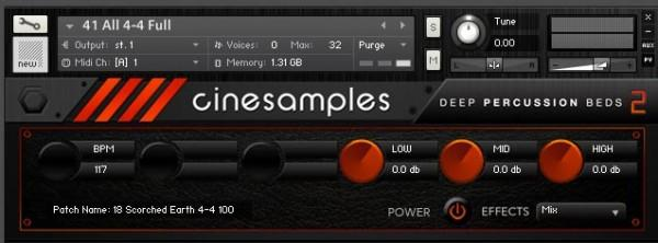 CineSamples Deep Perc Beds 2