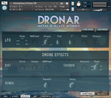 DRONAR Metal and Glass LFO and FX GUI