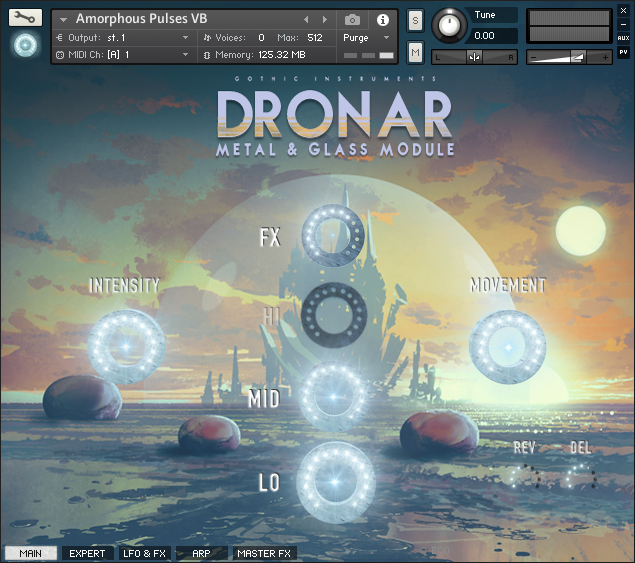 DRONAR Metal and Glass Main GUI