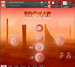 DRONAR World Flutes Main interface