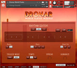 DRONAR World Flutes Rhythm editor interface