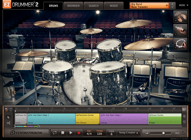 Toontrack EZX Big Band GUI