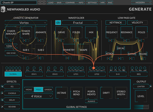 Eventide NewFangled Audio Generate interface