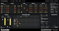 Eventide Quadravox GUI