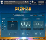 DRONAR Master Edition Arpeggiator settings