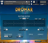 The Rhythm Editor in DRONAR Master Edition