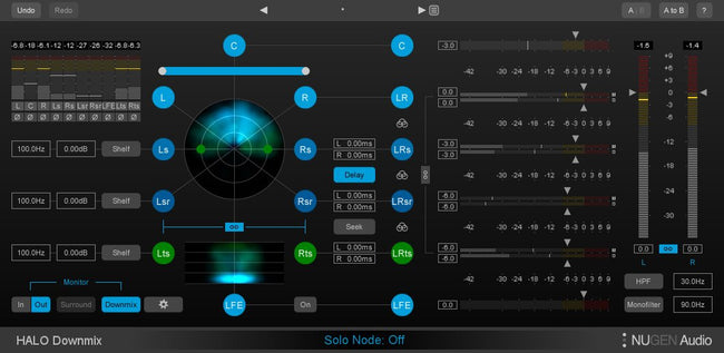 NUGEN Audio Halo Downmix GUI