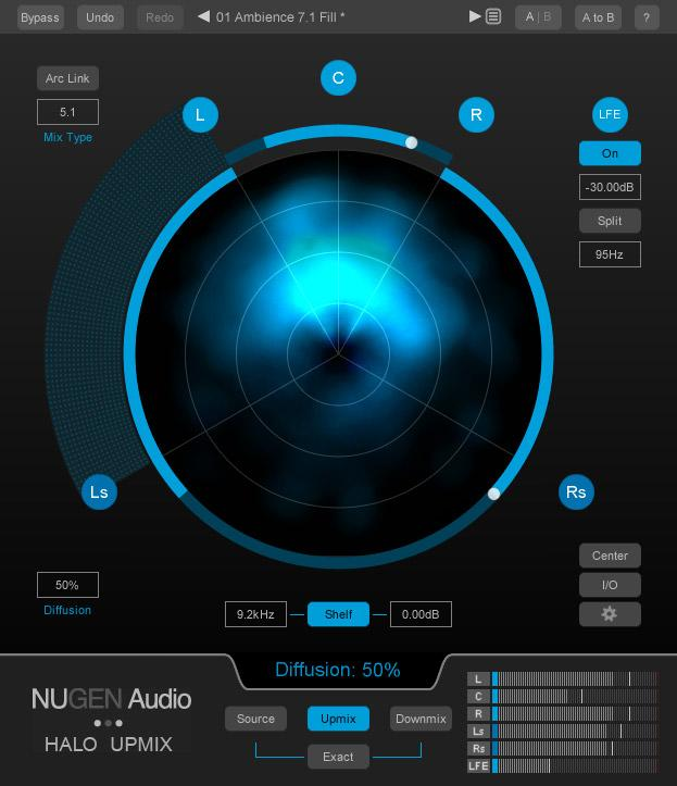 Nugen Audio Halo Upmix GUI