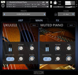 Sonuscore Origins Vol.5: Ukulele and Muted Piano Main GUI