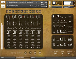 Sound Dust Saxomaphonium Kontakt interface