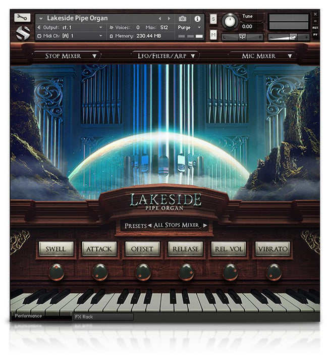 Soundiron Lakeside Pipe Organ GUI
