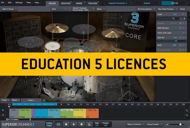 Install Toontrack Superior Drummer 3 Education Institution MULTIPLE LICENCE
