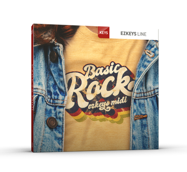 Toontrack Basic Rock EZkeys MIDI pack