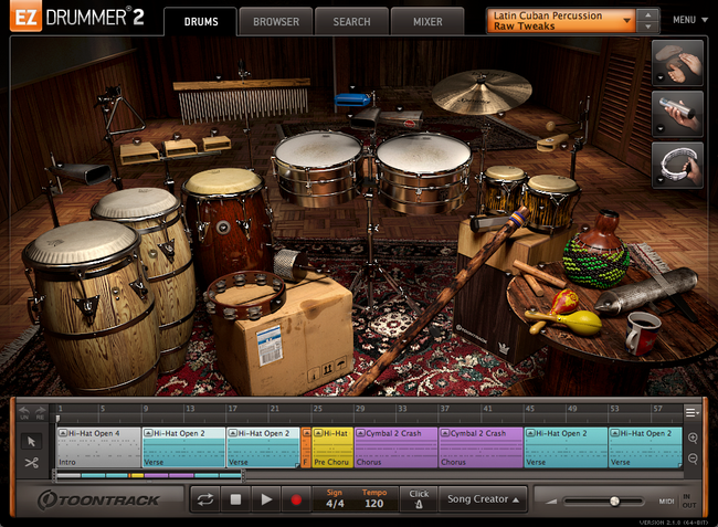Toontrack EZX - Latin Cuban Percussion interface