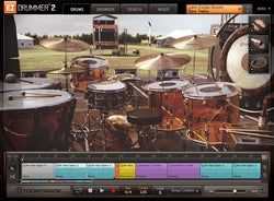 Toontrack EZX: Classic Rock interface