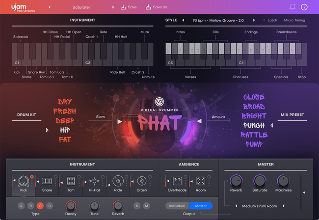 UJAM Virtual Drummer PHAT V2