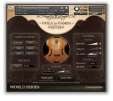Cinesamples Viola da Gamba interface