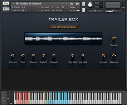Wavelet Audio Trailer Box GUI image