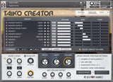 In Session Audio Taiko Creator Aux Page GUI