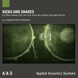 AAS Kicks and Snares ultra analog va-3 sound pack