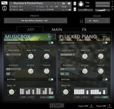 Sonuscore Origins 2 Music Box and Plucked Piano GUI