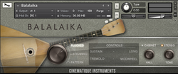 Cinematique Instruments Balalaika GUI