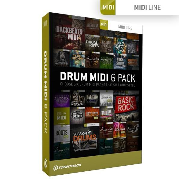 Toontrack Drum MIDI 6 Pack