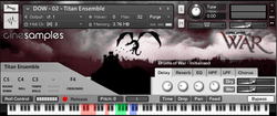 cinesamples drums of war gui