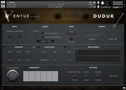 Impact Soundworks Ventus Ethnic Winds Duduk interface