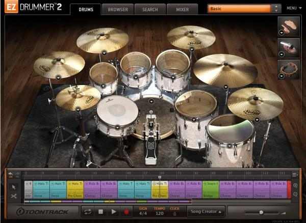 Interface Toontrack EZdrummer 2