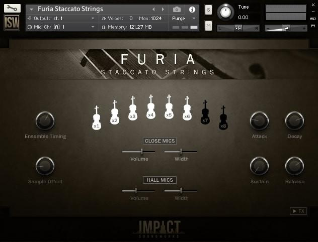 Buy Impact Soundworks Furia Staccato Strings