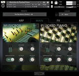 Review Sonuscore Origins 2 Music Box and Plucked Piano GUI