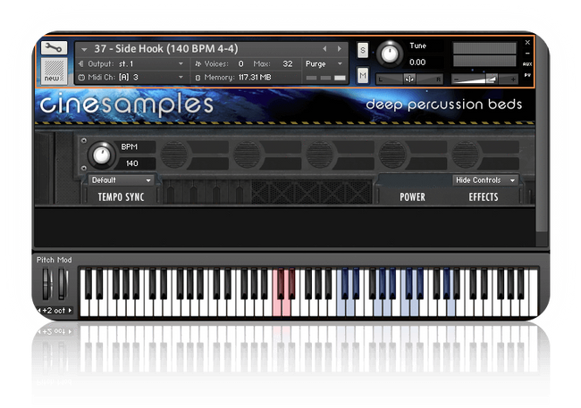cinesamples deep percussion beds gui